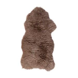 Brązowa skóra z długim włosiem Dotonna, 110x60cm