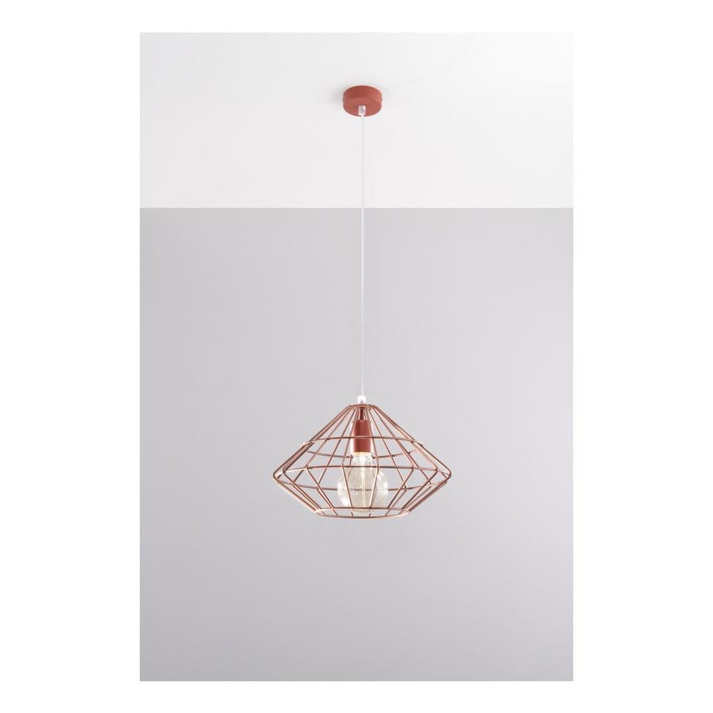 Lampa wisząca w kolorze miedzi Nice Lamps Editta