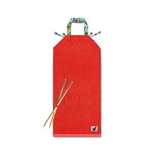 Czerwony leżak plażowy Origama Geo