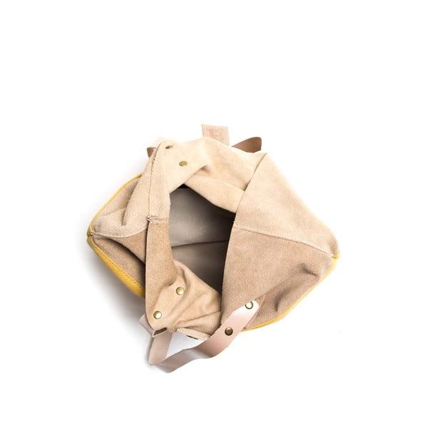 Skórzana torebka Isabella Rhea 8020 Giallo