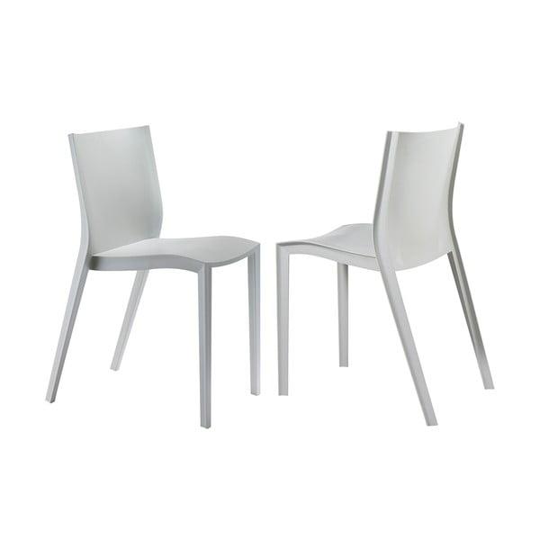 Komplet 2 krzeseł Slick Slick, szare