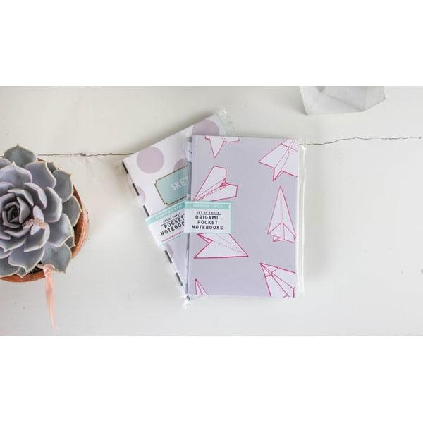 Komplet 3 notesów Origami A6