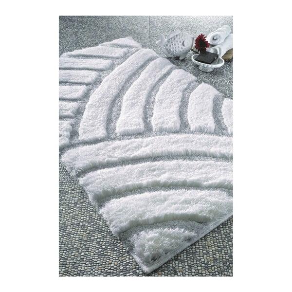 Biały dywanik łazienkowy Confetti Karya, 60x100cm
