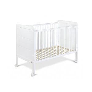Białe łóżeczko dziecięce z drewna sosnowego YappyKids Modern