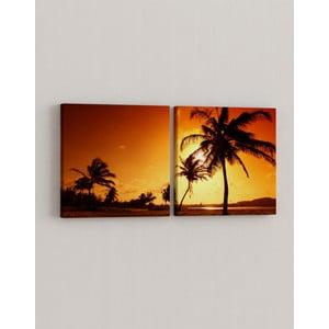 Zestaw 2 obrazów Raj palmowy