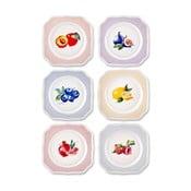 Zestaw 6 talerzy deserowych z porcelany kostnej The Mia Frutta