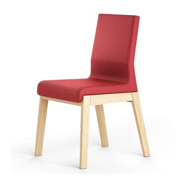 Czerwone krzesło dębowe Absynth Kyla