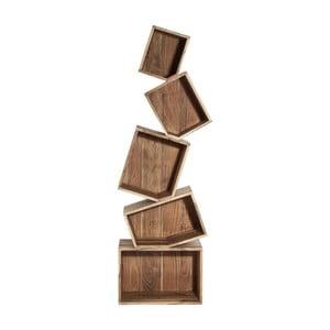 Biblioteczka z drewna akacjowego Kare Design Balance