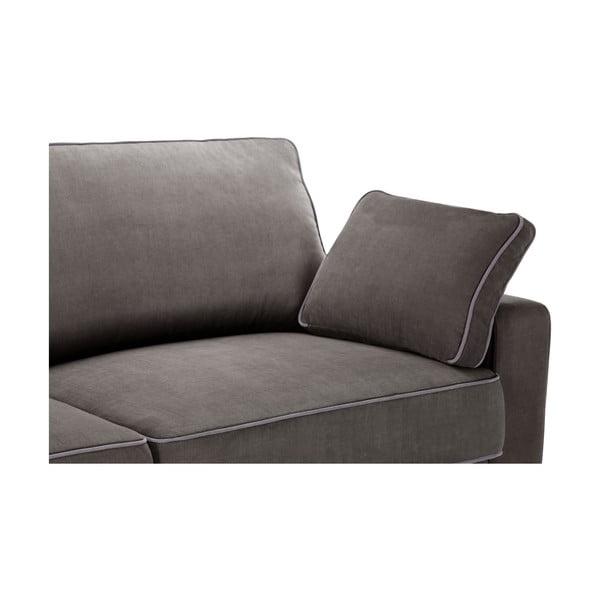 Sofa trzyosobowa Jalouse Maison Serena, ciemnobrązowa