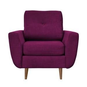 Fiioletowy fotel z jasnymi nogami Mazzini Sofas Flower