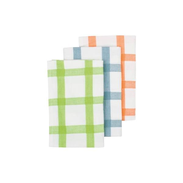 Ścierki kuchenna Grid Lime, 3 sztuki