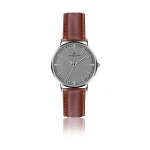 Zegarek męski z jasnobrązowym skórzanym paskiem Frederic Graff Eiger Silver