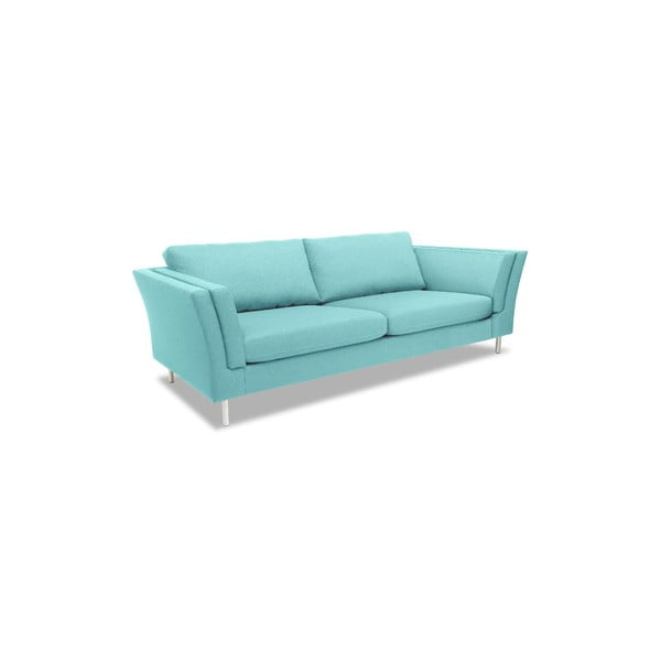 Jasnoturkusowa sofa trzyosobowa VIVONITA Connor