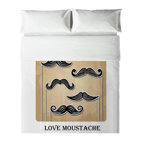 Pościel Hipster Love Moustache, 140x200 cm