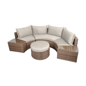 Półokragła sofa ze stolikiem/podnóżkiem ADDU Talavera