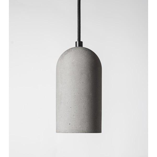 Lampa sufitowa U, betonowa