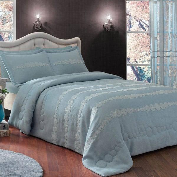 Narzuta i poszewka na poduszkę TAC Dreamy Blue, 180x240 cm