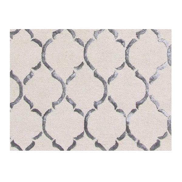 Srebrny dywan tuftowany ręcznie Bakero Chain, 183x122 cm