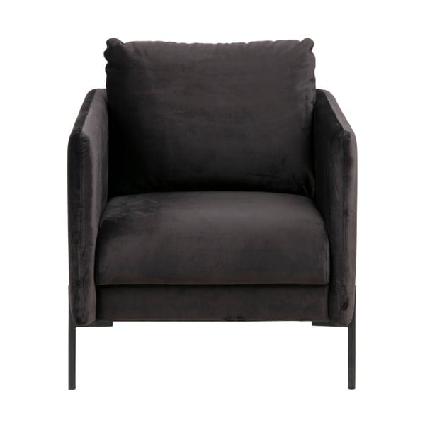 Antracytowy fotel Actona Kingsley