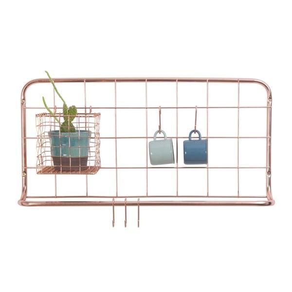 Miedziany wieszak ścienny Present Time Open Grid Copper