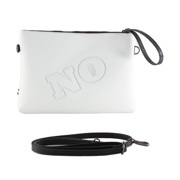 Neoprenowa kopertówka Yes/No, biała