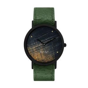 Zegarek unisex z zielonym paskiem South Lane Stockholm Avant Noir
