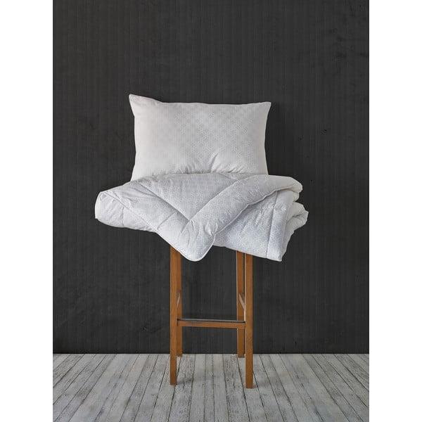 Kołdra z mikrowłókna Grey Quilt, 155x215 cm