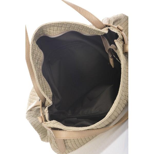 Torebka skórzana Markese 9600 szarobeżowa (taupe)