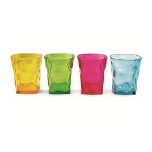 Komplet 4 szklanek Fluo