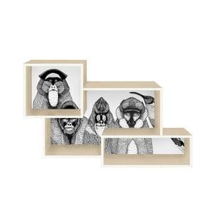 Potrójna półka Monkeys
