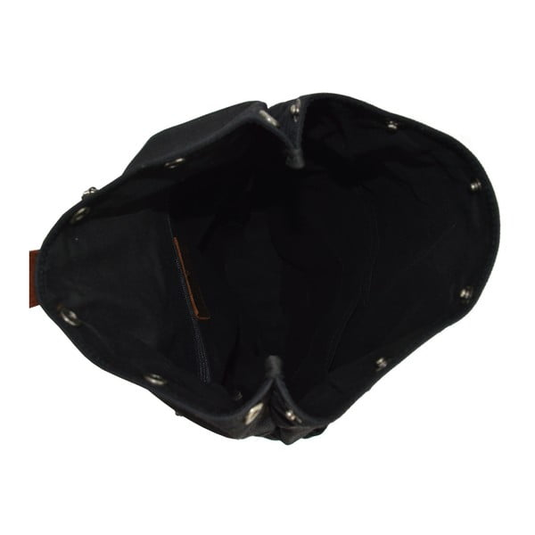 Czarny plecak skórzany Adventurer