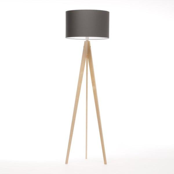 Ciemnoszara lampa stojąca 4room Artist, brzoza, 150 cm