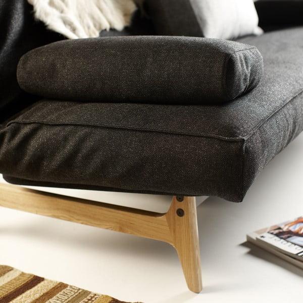 Czarna sofa rozkładana Innovation Aslak