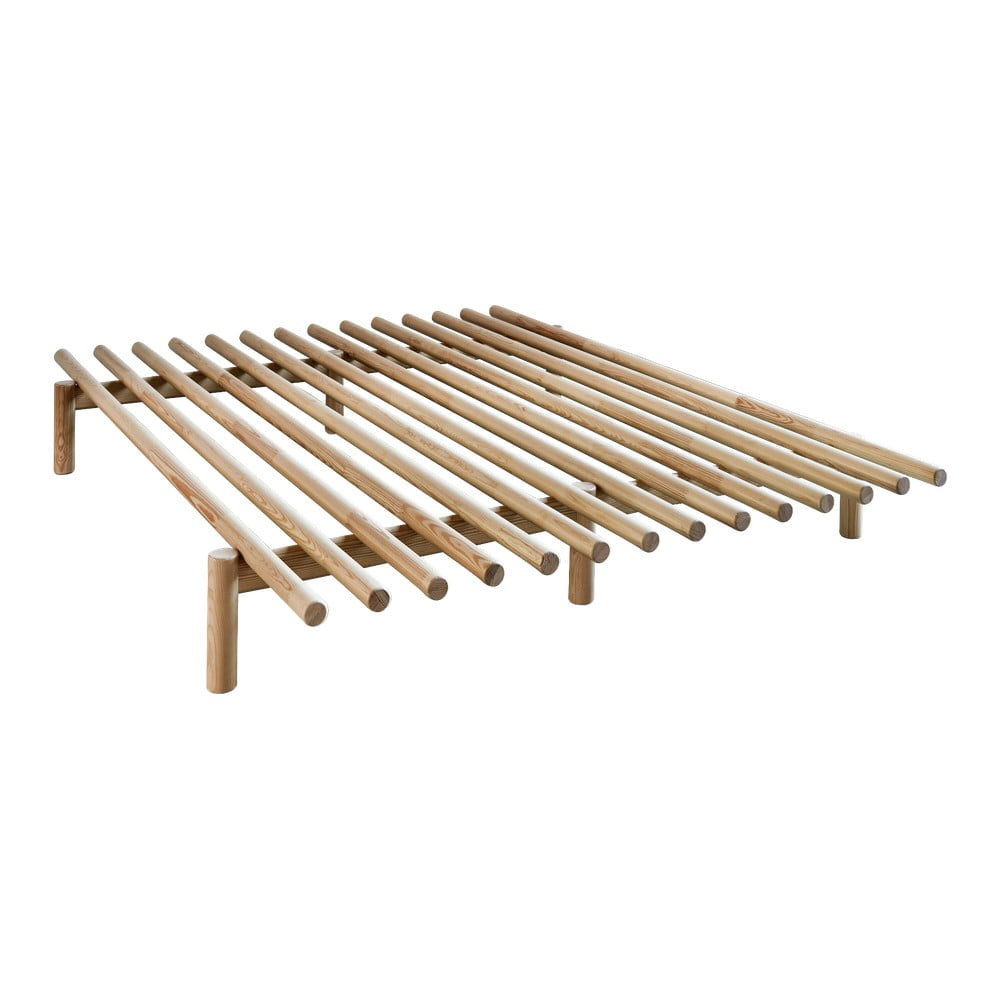 Rama łóżka Z Drewna Sosnowego Karup Design Pace Natural 160x200 Cm Bonami