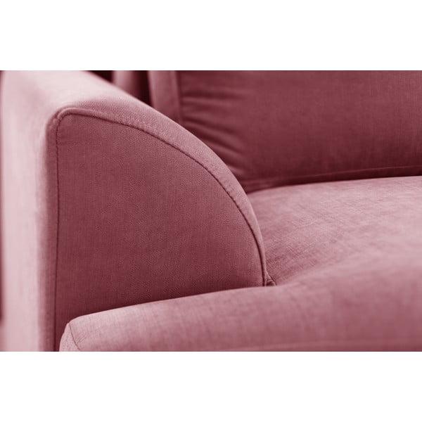 Trzyczęściowy komplet wypoczynkowy Jalouse Maison Irina, różowy