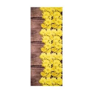 Żółto-brązowy wytrzymały dywan kuchenny Webtappeti Dalie, 58x80cm