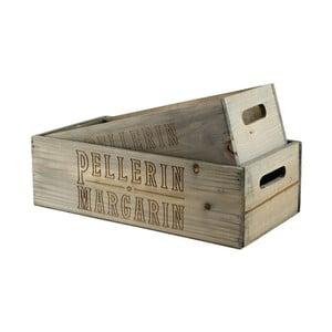 Komplet 2 skrzynek drewnianych Pellerin Margarin
