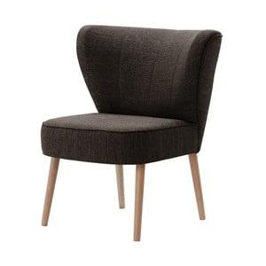 Ciemnobrązowy fotel My Pop Design Adami
