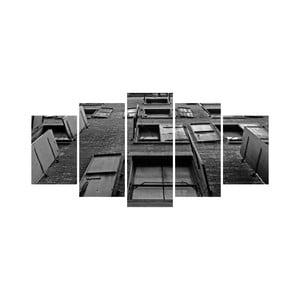 Wieloczęściowy obraz Black&White no. 64, 100x50 cm