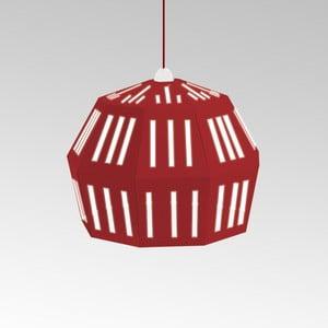 Kartonowa lampa Uno Fantasia C Red, z czerwonym kablem