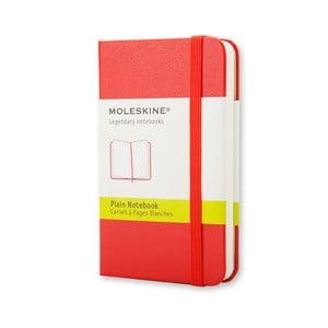 Czerwony notatnik gładki Moleskine XS