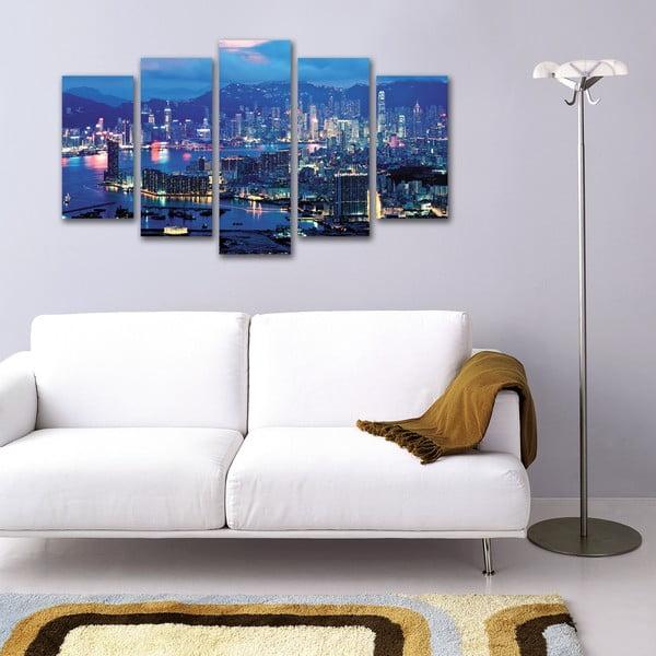 Pięcioczęściowy obraz Niebieskie Miasto