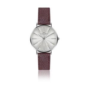 Zegarek damski z bordowym paskiem skórzanym Frederic Graff Silver Monte Rosa Lychee Bordeaux Leather
