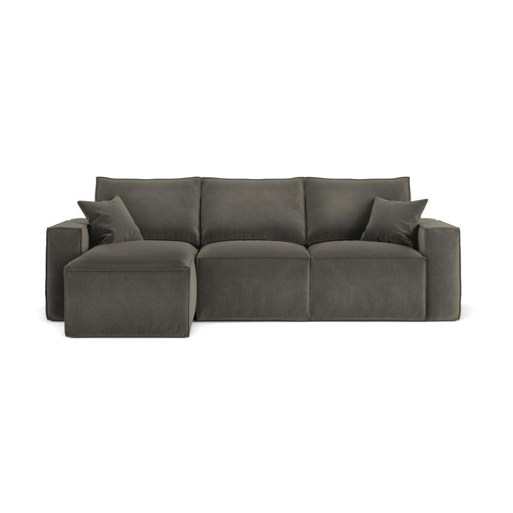 Ciemnoszara narożna sofa Cosmopolitan Design Florida, lewostronna