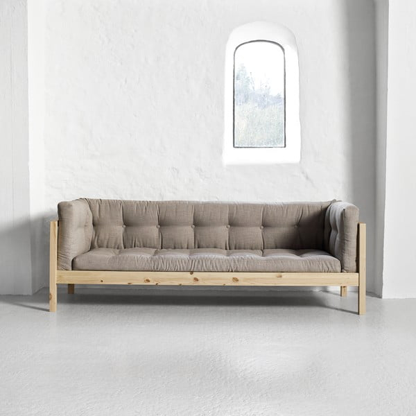 Sofa 3-osobowa Karup Fusion Natural/Linoso Light Gray