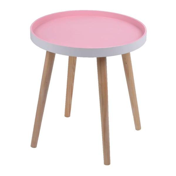 Różowy stolik Ewax Simple Table, 38 cm