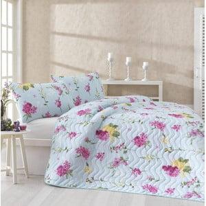 Komplet narzuty i 2 poszewek na poduszki Lilac Pink, 200x220 cm