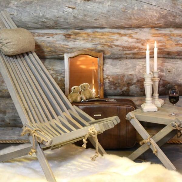 Stołek Lilli z czarnego drewna sosnowego EcoFurn