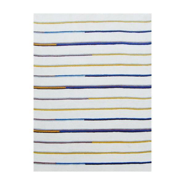 Beżowy dywan tuftowany ręcznie Bakero Stripe, 153x244 cm