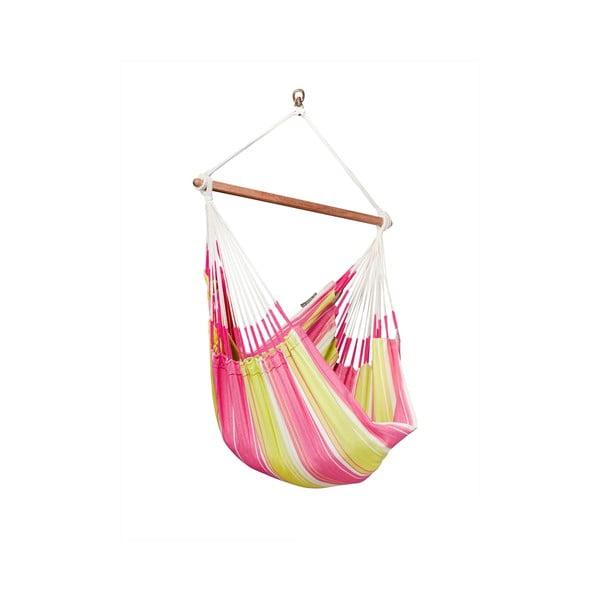 Krzesło-Hamak  Botanica, różowe